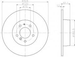 Комплект тормозных дисков TEXTAR 92058400 (2 шт.)