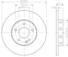 Фото 1 - Комплект тормозных дисков TEXTAR 92059303 (2 шт.)