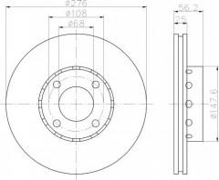 Комплект тормозных дисков TEXTAR 92060500 (2 шт.)
