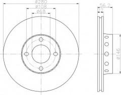 Комплект тормозных дисков TEXTAR 92060600 (2 шт.)