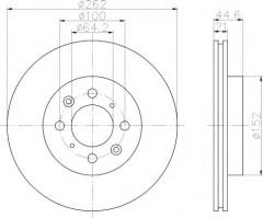 Комплект тормозных дисков TEXTAR 92060903 (2 шт.)