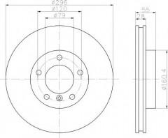 Комплект тормозных дисков TEXTAR 92067400 (2 шт.)