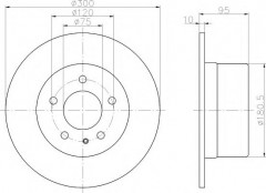 Комплект тормозных дисков TEXTAR 92067500 (2 шт.)