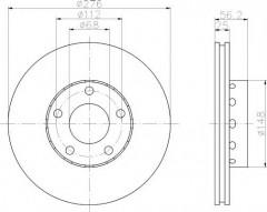 Комплект тормозных дисков TEXTAR 92068100 (2 шт.)