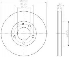 Комплект тормозных дисков TEXTAR 92071000 (2 шт.)