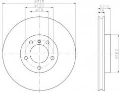 Комплект тормозных дисков TEXTAR 92071203 (2 шт.)