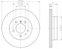 Комплект тормозных дисков TEXTAR 92071300 (2 шт.)