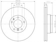 Комплект тормозных дисков TEXTAR 92071403 (2 шт.)