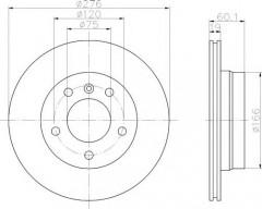 Комплект тормозных дисков TEXTAR 92072403 (2 шт.)