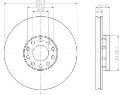 Комплект тормозных дисков TEXTAR 92073200 (2 шт.)