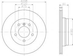 Комплект тормозных дисков TEXTAR 92075103 (2 шт.)
