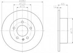 Комплект тормозных дисков TEXTAR 92075200 (2 шт.)
