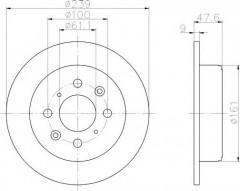 Комплект тормозных дисков TEXTAR 92077900 (2 шт.)
