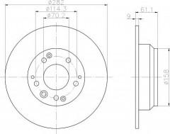 Комплект тормозных дисков TEXTAR 92078400 (2 шт.)