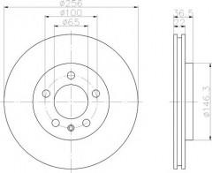 Комплект тормозных дисков TEXTAR 92082203 (2 шт.)