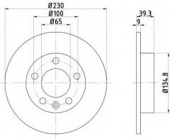 Комплект тормозных дисков TEXTAR 92082503 (2 шт.)