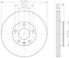 Комплект тормозных дисков TEXTAR 92083503 (2 шт.)