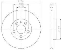 Комплект тормозных дисков TEXTAR 92088000 (2 шт.)