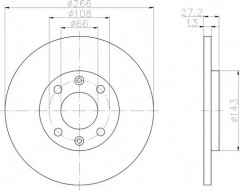 Комплект тормозных дисков TEXTAR 92089103 (2 шт.)