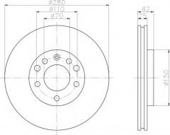Фото 1 - Комплект тормозных дисков TEXTAR 92091903 (2 шт.)