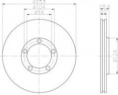 Комплект тормозных дисков TEXTAR 92093700 (2 шт.)
