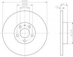 Комплект тормозных дисков TEXTAR 92096400 (2 шт.)