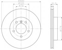 Комплект тормозных дисков TEXTAR 92097205 (2 шт.)