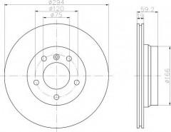 Комплект тормозных дисков TEXTAR 92097303 (2 шт.)