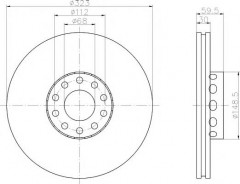 Комплект тормозных дисков TEXTAR 92098305 (2 шт.)