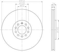 Комплект тормозных дисков TEXTAR 92098503 (2 шт.)