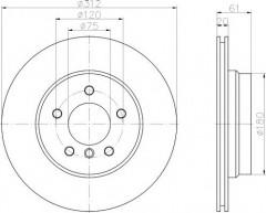 Комплект тормозных дисков TEXTAR 92098703 (2 шт.)
