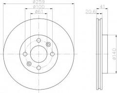 Комплект тормозных дисков TEXTAR 92100903 (2 шт.)