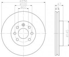 Комплект тормозных дисков TEXTAR 92102600 (2 шт.)