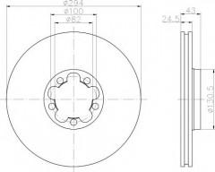 Комплект тормозных дисков TEXTAR 92103803 (2 шт.)