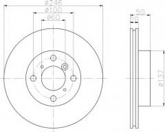 Фото товара 1 - Комплект тормозных дисков TEXTAR 92104500 (2 шт.)