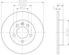 Комплект тормозных дисков TEXTAR 92105803 (2 шт.)