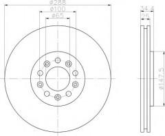 Комплект тормозных дисков TEXTAR 92106603 (2 шт.)