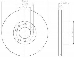 Комплект тормозных дисков TEXTAR 92107100 (2 шт.)
