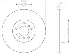 Комплект тормозных дисков TEXTAR 92107203 (2 шт.)
