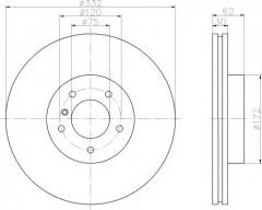 Комплект тормозных дисков TEXTAR 92107303 (2 шт.)