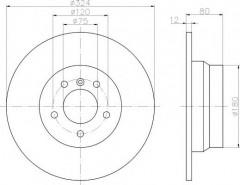 Комплект тормозных дисков TEXTAR 92107403 (2 шт.)