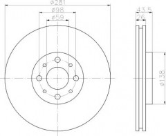 Комплект тормозных дисков TEXTAR 92107703 (2 шт.)