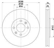 Комплект тормозных дисков TEXTAR 92107800 (2 шт.)