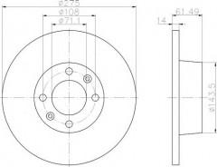 Комплект тормозных дисков TEXTAR 92107900 (2 шт.)