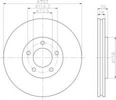 Комплект тормозных дисков TEXTAR 92108200 (2 шт.)