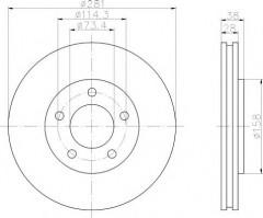 Комплект тормозных дисков TEXTAR 92108300 (2 шт.)