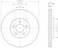 Комплект тормозных дисков TEXTAR 92108500 (2 шт.)