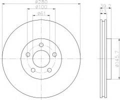 Комплект тормозных дисков TEXTAR 92108503 (2 шт.)