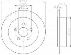 Комплект тормозных дисков TEXTAR 92108600 (2 шт.)