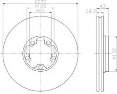 Комплект тормозных дисков TEXTAR 92110003 (2 шт.)